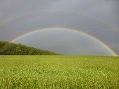Rainbow near Smannell - 04/06/2014 by John Harding