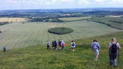 Descending from Combe Gibbet - 21/06/2014